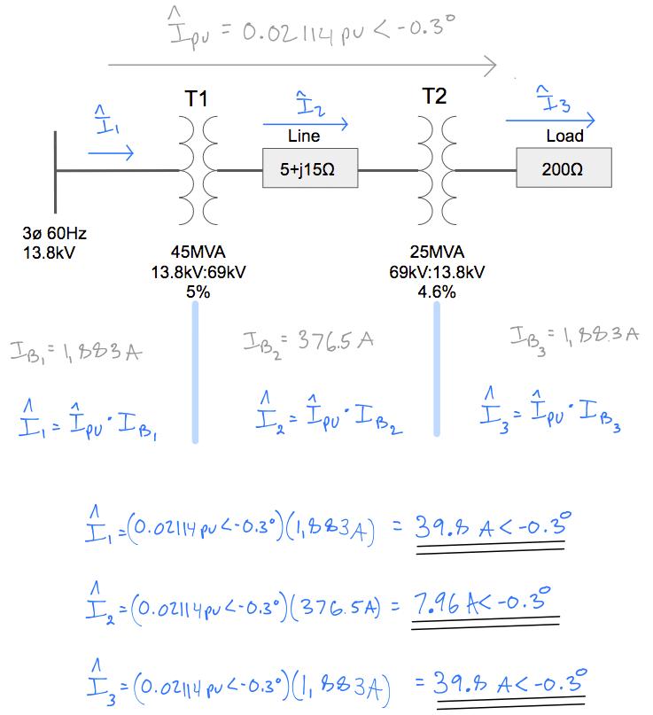 Per Unit base change transmission line