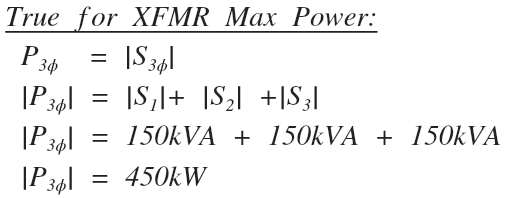 Delta transformer max power check work