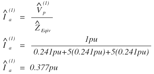 Solve for single line to ground fault symmetrical component current