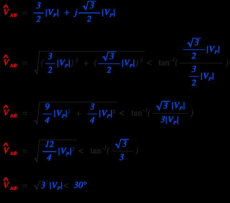 Three Phase Power Equation Derivation